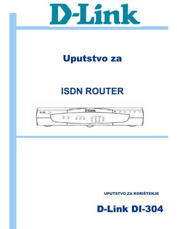 Uputstvo za ISDN ROUTER D-Link DI-304