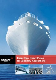 Essar Steel Heavy Plates for Speciality Applications