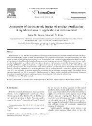 Assessment of the economic impact of product certification: A ...