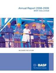 Annual Report 2008-2009 - BASF India