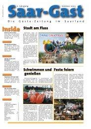 Stadt am Fluss Feste feiern Schwimmen und genießen - Saar-Gast