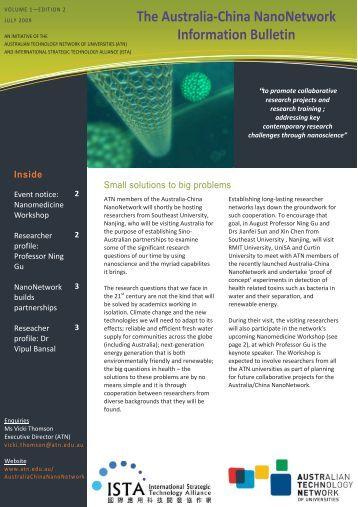 The Australia‐China NanoNetwork Information Bulletin