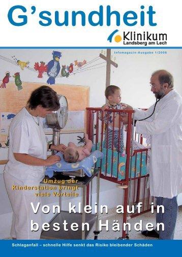 Kr ampf adern und of f enes Bein - Klinikum Landsberg am Lech