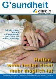 P a l l i a t i v m e d i z i n - Klinikum Landsberg am Lech