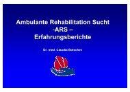 Ambulante Rehabilitation Sucht -ARS – Erfahrungsberichte
