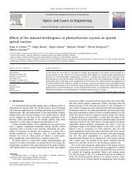 Effects of the induced birefringence in photorefractive crystals on ...