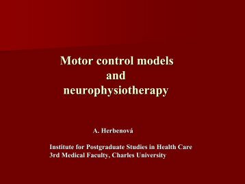 Motor control control models and neurophysiotherapy - Ceros