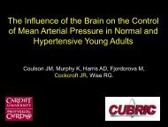 of Mean Arterial Pressure in Normal and Hypertensive Young Adults