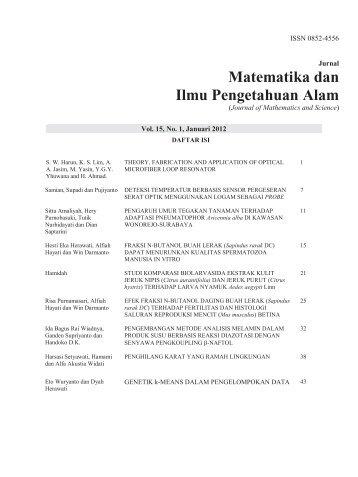 Matematika dan Ilmu Pengetahuan Alam - Journal - Unair