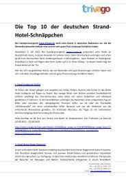 Die Top 10 der deutschen Strand- Hotel-Schnäppchen - Trivago.com