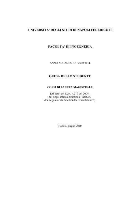 Calendario Esami Unina Ingegneria Meccanica.Corso Di Laurea Magistrale In Ingegneria Meccanica Per La