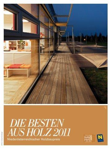 Die besten aus holz 2011 - Niederösterreichischer Holzbaupreis