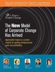 Conference Brochure (PDF) - The Appreciative Inquiry Commons