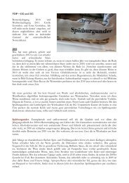 VDP – GG und EG Rotweinjahrgang 2010 und Weißweinjahrgang ...