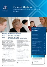 May 2013 edition - Future Students - University of Melbourne