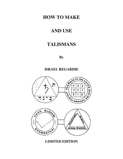 israel-regardie-how-to-make-and-use-talismans