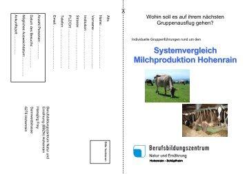 Systemvergleich Milchproduktion Hohenrain