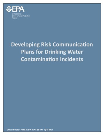 Developing Risk Communication Plans for Drinking Water Contamination Incidents