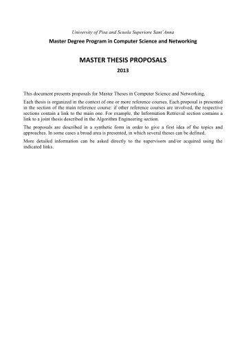 Paid master thesis