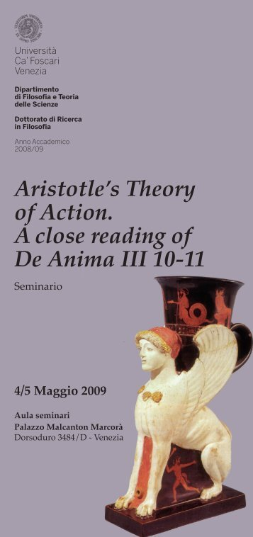 Aristotle's Theory of Action. A close reading of De Anima III ... - Nemus