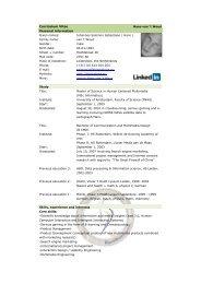 CV Hans van 't Woud - BlackShore