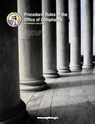 Procedural Rules of the Office of Compliance