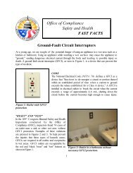 Fast Facts - Ground-Fault Circuit Interrupters - Office of Compliance