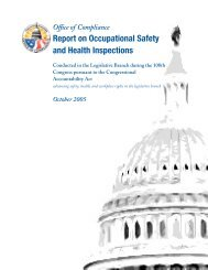 Report on Occupational Safety and Health Inspections