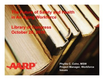 The Future of Safety and Health in An Aging Workforce Library of ...