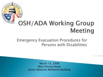 Emergency Evacuation Procedures for Persons with Disabilities