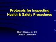 Protocols for Inspecting Health & Safety Procedures