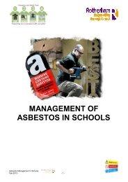MANAGEMENT OF ASBESTOS IN SCHOOLS