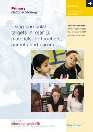 Using curricular targets in Year 6: materials for teachers ... - RGFL