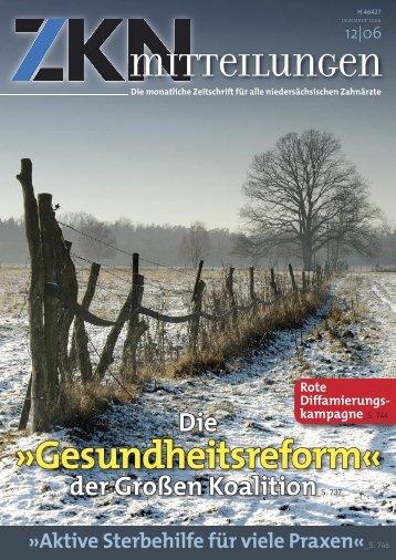 •ZKN 06-12.indd - Zahnärztekammer Niedersachsen