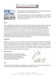 Factsheet Bielefelder Hof (PDF) - Hotel Bielefelder Hof