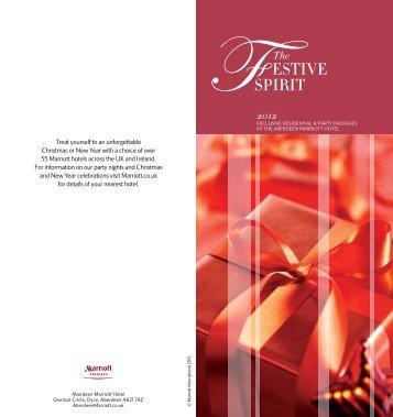 Festive Brochure 2012 - Marriott Hotels