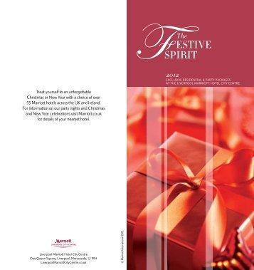 Christmas Brochure 2012 - Marriott Hotels