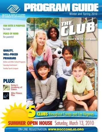 Winter/Spring Guide 2010 - Boys & Girls Clubs