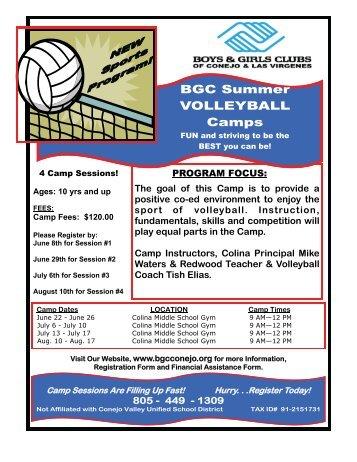 BGC Summer VOLLEYBALL Camps