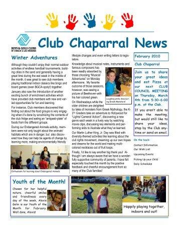 Club Chaparral News