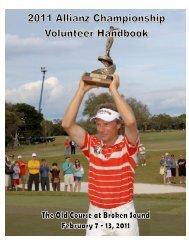 2011 Volunteer Handbook - Copy - Allianz Championship