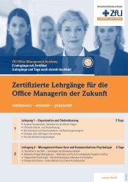Zertifizierte Lehrgänge für die Office Managerin der Zukunft