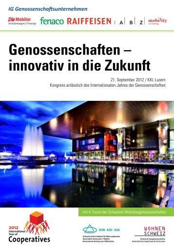 Genossenschaften – innovativ in die Zukunft - ZfU