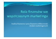 Analiza finansowa i poza finansowa efektywności działań marketingowych