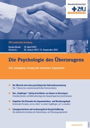 Die Psychologie des Ãœberzeugens - ZfU