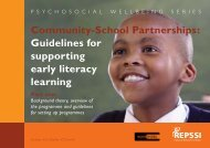 Community-School Partnerships Guidelines for supporting early literacy learning