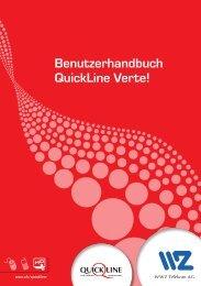 Benutzerhandbuch QuickLine Verte! - Wasserwerke Zug AG