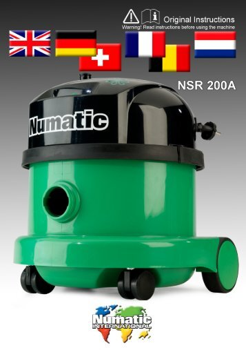 Information for Dry use Vacuum Cleaners - Numatic-tr