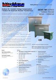 Outdoor AC Constant Voltage Compensators - Ashley-Edison UK