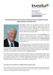 Interview with Professor Peter Dobson, Academic ... - NanoNewsNet